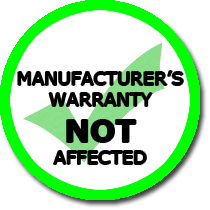 Manufacturer's warranty not affected